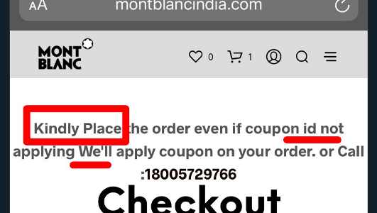 Mont Blanc India – An interesting fraud or a real bad way of handling operations