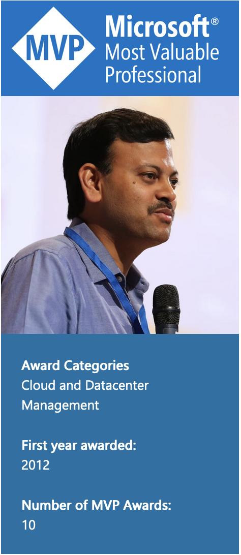 Microsoft Most Valuable Professional - Rohit Srivastwa